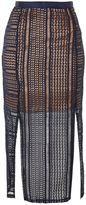Topshop TALL Geometric Lace Split Midi Skirt