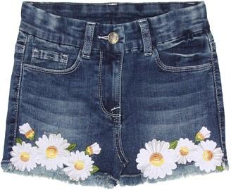MonnaLisa Appliqued denim shorts