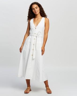 Nude Lucy Kora Linen Midi Dress