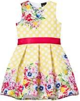 Love made Love Yellow Polka Dot Floral Dress