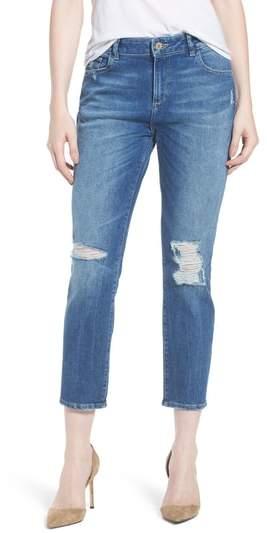 DL1961 Stevie Distressed Crop Slim Boyfriend Jeans