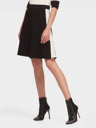 DKNY Colorblock Skater Skirt