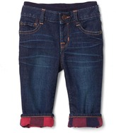 Gap 1969 My First Plaid-Lined Straight Jeans
