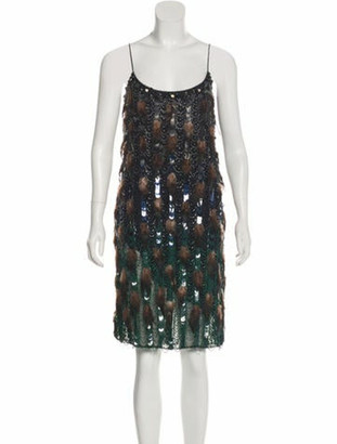 Matthew Williamson Feathered Mini Dress w/ Tags Black