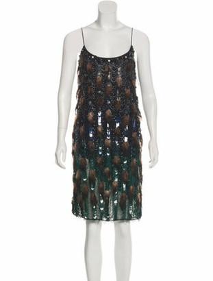 Matthew Williamson Feathered Mini Dress w/ Tags Black