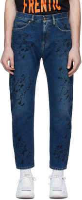 McQ Blue Painted Jeans