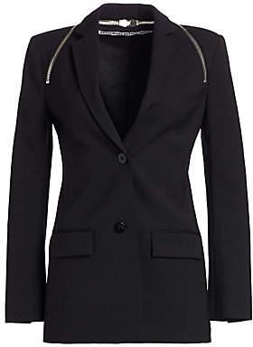 Alexander Wang Women's Zipper Trim Tailored Blazer - Size 0