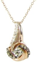 LeVian Le Vian Chocolatier YQEN 44 14K Rose Gold Sinuous Swirls Petite 0.19 Ct Chocolate and 0.14 Ct White Diamond Pendant Necklace