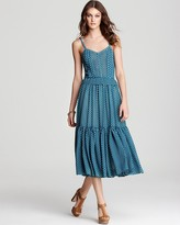 Derek Lam 10 Crosby Tiered Dress - with Pintucked Bodice