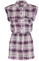 Select Fashion Fashion Womens Multi Check Playsuit - size 10