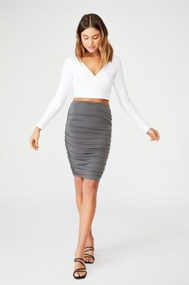 Supre Oakley Gathered Mini Skirt