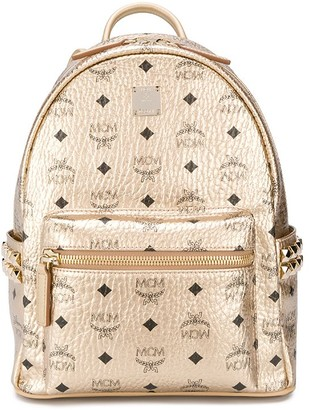 MCM All Over Logo Print Backpack