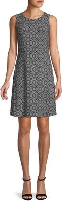 Tommy Hilfiger Printed Sleeveless A-Line Dress
