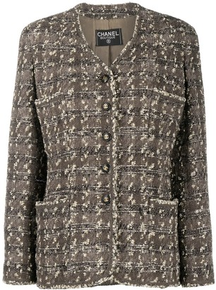 Chanel Pre Owned 1990s Single-Breasted Tweed Jacket