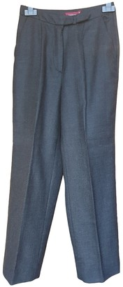 Henry Cotton Grey Wool Trousers for Women
