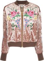 Muveil embroidered velvet bomber jacket