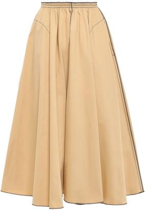 Nina Ricci Flared Gabardine Midi Skirt