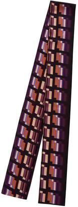 Phoebe Grace Long Skinny Scarf In Purple Check Print