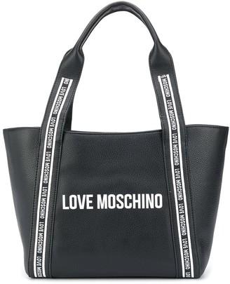 Love Moschino Logo Tape Tote Bag
