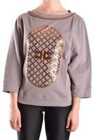 Elisabetta Franchi Women's Grey Cotton Sweatshirt.