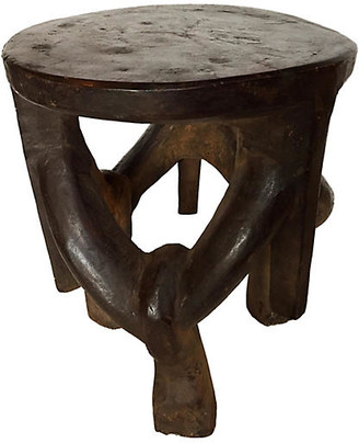 One Kings Lane Vintage Makonde Stool - brown