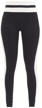 Vaara Flo Striped Stretch-jersey Leggings - Black White