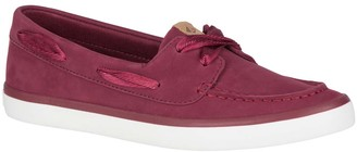 Sperry Top Sider Women's Boat Shoes - Wine Sailor Leather Boat Shoe - Women