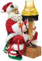 Kurt Adler A Christmas Story Light-Up Leg Lamp & Santa Table Decor by