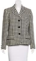 Aquascutum London Houndstooth Notch-Lapel Blazer