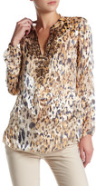 Hale Bob Animal Print Silk Blend Tunic