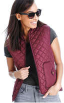 Joe Fresh Women's Quilted Puffer Vest, Dark Plum (Size M)