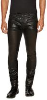 Diesel Black Gold Cotton Solid Coated Slim Jeans