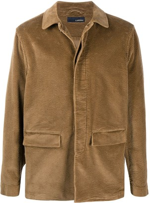 Lardini Spread Collar Single Breasted Coat