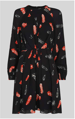 Whistles Jasmine Feather Print Dress