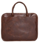 Moore & Giles Men's Miller Leather Briefcase - Brown