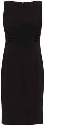 DKNY Ruched Stretch-crepe Dress
