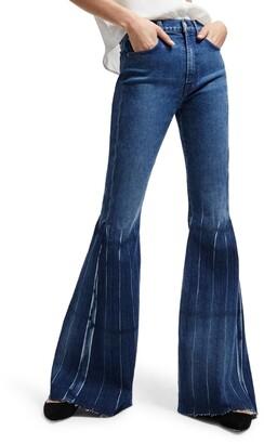 Seven London High Waist Pleated Mega Flare Jeans