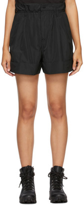 Moncler Black Pleated Elastic Waist Shorts