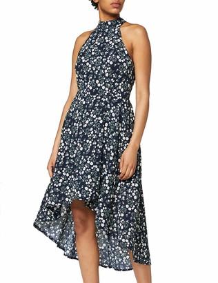 Yumi Women's Ditsy Neck High Low Dress Casual
