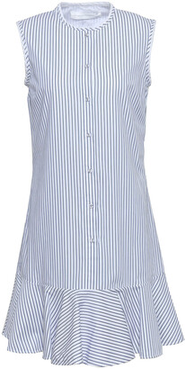 Victoria Victoria Beckham Striped Cotton-poplin Shirt Dress
