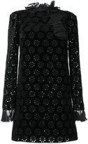 Giambattista Valli crochet detail cocktail dress - women - Silk/Cotton/Polyester/Viscose - 40