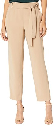 1 STATE Tie Waist Tapered Leg Pants (Classic Camel) Women's Casual Pants