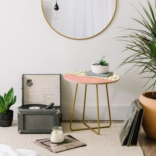 Deny Designs Gold Triangles Side Table
