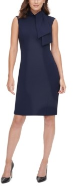 Harper Rose Tie-Neck Sheath Dress
