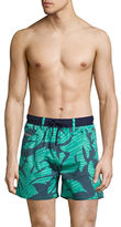 Diesel Leaf-Print Swim Shorts