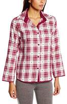 Cyberjammies Women's Scarlet Dobby Long Sleeve Check Pyjama Top