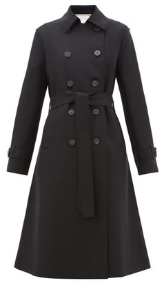 Harris Wharf London Double-breasted Felted-wool Trench Coat - Womens - Black