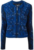 Moschino trompe-l'oeil jacket - women - Polyester/Rayon/Triacetate - 42