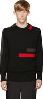 Jil Sander Black Wool Stripes Sweater