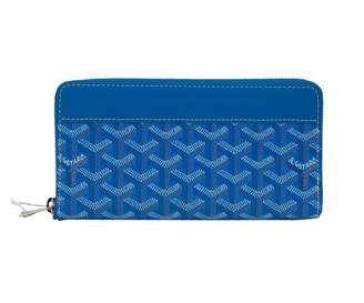 Goyard Matignon Blue Leather Wallets